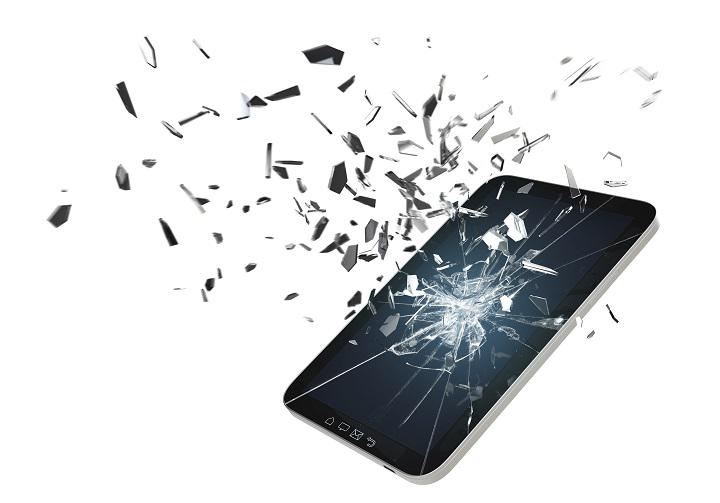 разбитый экран iphone 6