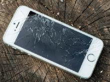 разбитое стекло iPhone 6 Plus